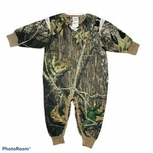 NWT Mossy Oak 2T onesie girls lace camouflage camo